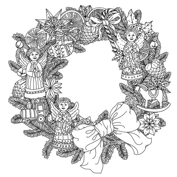 Mandala Couronne De Noël
