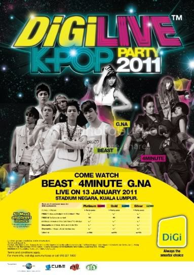DiGiLive DiGi to host a Live K pop Party in 2011