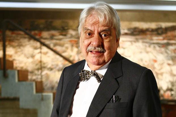 Hugo Carvana durante a novela Três Irmãs, de 2008 (Foto: Fabrício Mota/TV Globo)