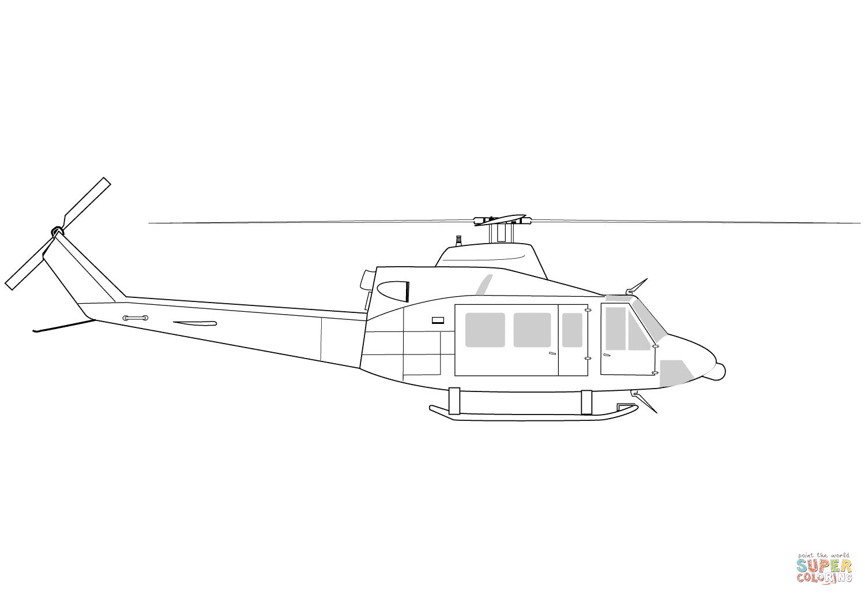 Klick das Bild Bell 412 Hubschrauber