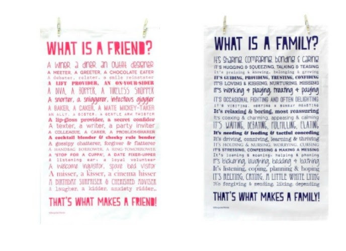 What Is A Familymarriagelovefriend Poem Tea Towel