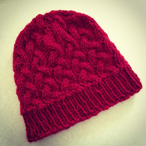 Cranberry Sauce hat for aunt Linda. First Christmas gift completed!
