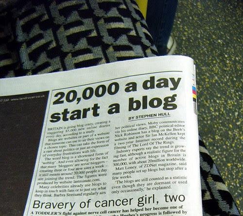 Britain Going Blog Crazy - Metro Article
