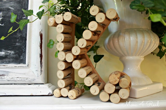 Monogram With Wine Corks