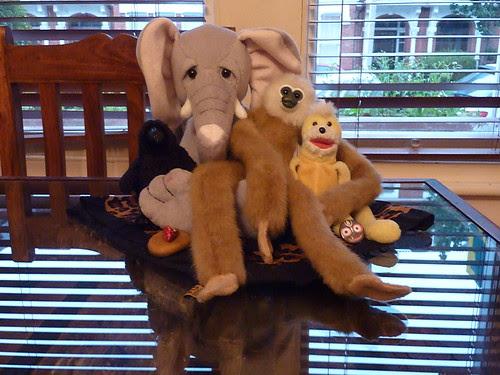 Minerva, Ellie, Monkey Dude and Swami