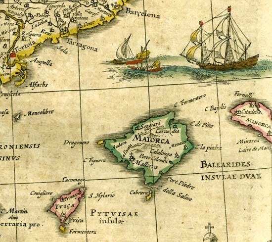 Mallorca and the Balearic Islands from the Atlas of Janssonius