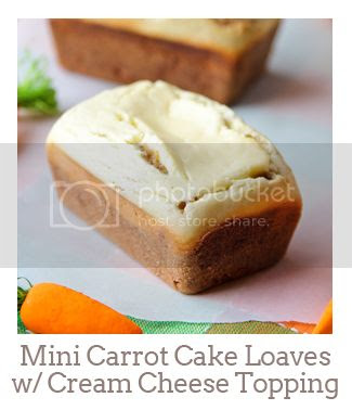 """""""Mini Carrot Cake Loaves with Baked Cream Cheese Topping"""""""