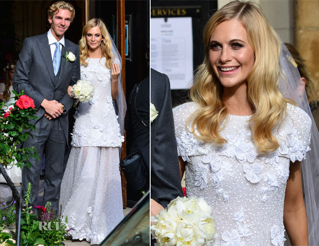 Poppy Delevingne Weds James Cook In Chanel Couture