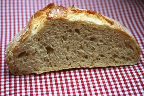 No knead bread - sezione