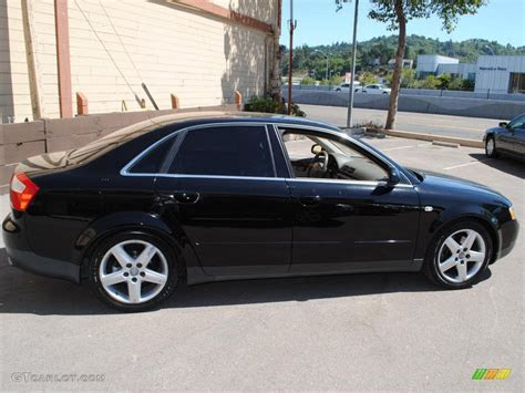 2002 Audi A4 3 0 Quattro Sedan Brilliant Black Color Beige   illinois liver