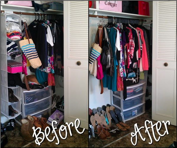 Organizing a small closet | anything & everything