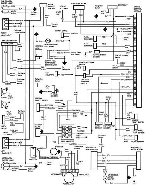 Ford F-250 1986 Engine Control Module Wiring Diagram | All