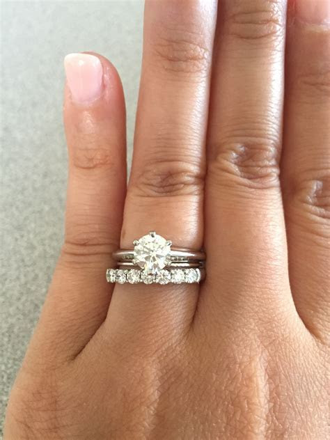Tiffany solitaire with flush wedding band?