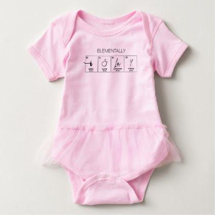 I Slay Elementally (Black Print) Baby Bodysuit