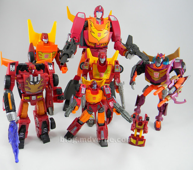 Transformers Hot Rod Masterpiece - modo robot vs otros Hot Rods