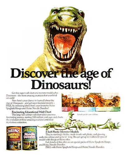 Heinz Age Of The Dinosaurs Ad 1980
