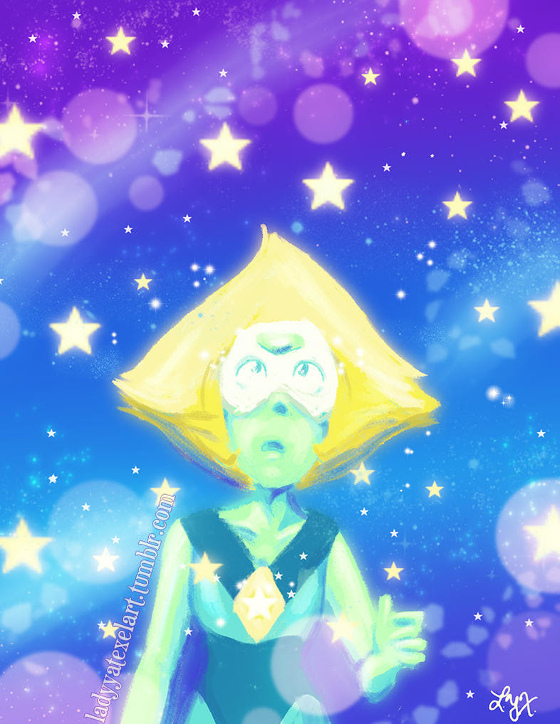 Peridot.  She is perfect.     I love her so much.  She is here on Tumblr, do not repost, but please reblog!