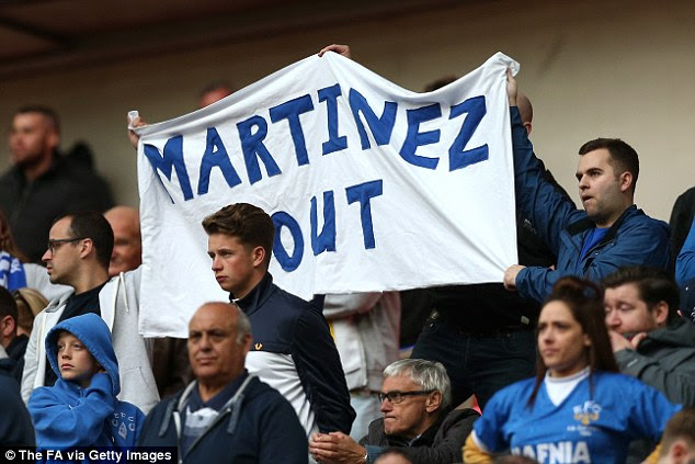 Evertonians at Wembley express their feelings about Martinez following the team's startling downturn in form