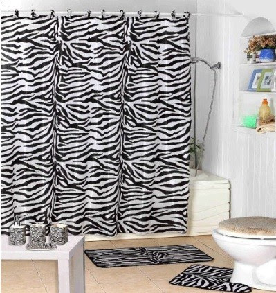 zebra print Shower Curtain