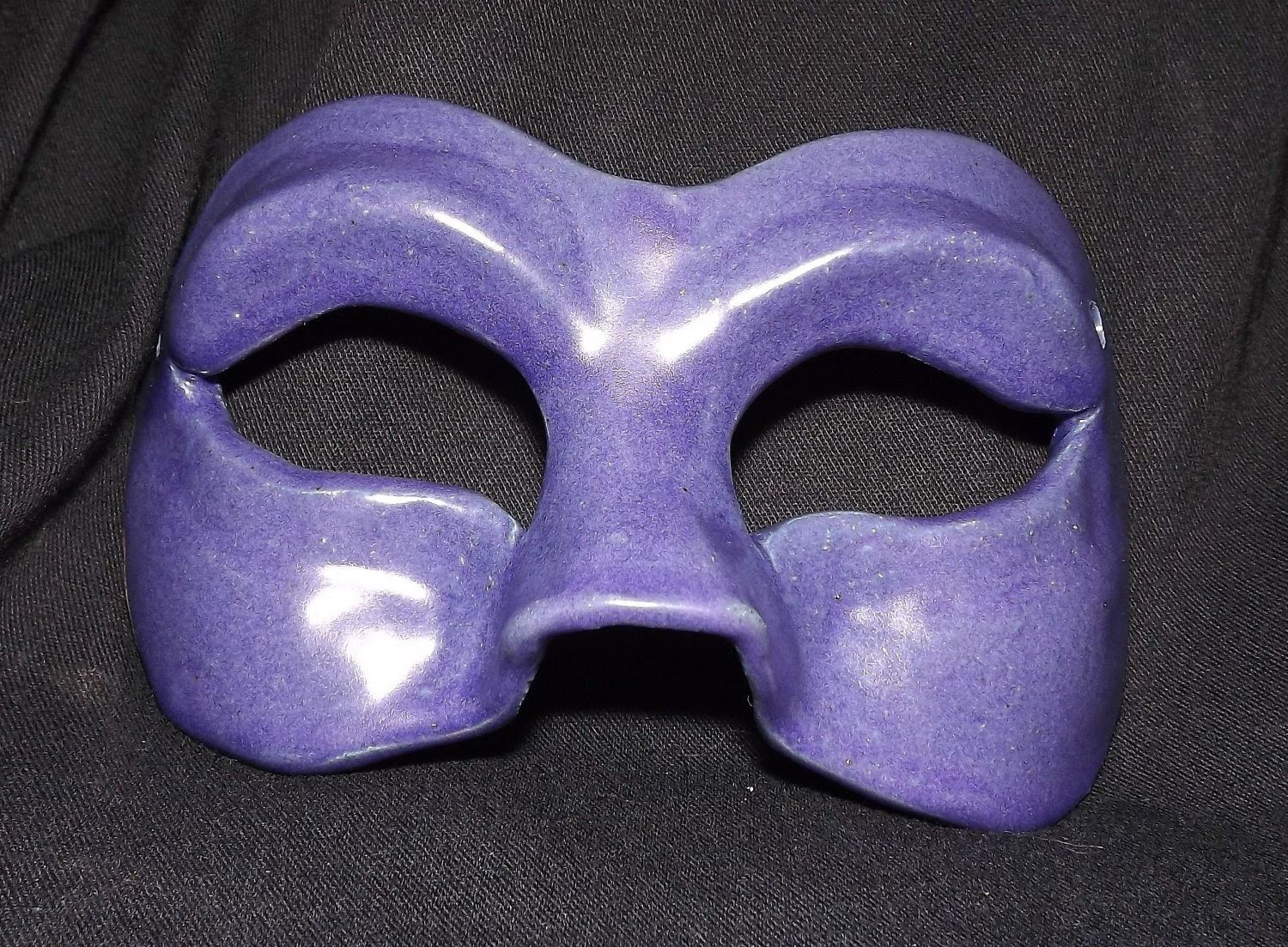 Royal Purple Ceramic Mask - LadyRuneCreations