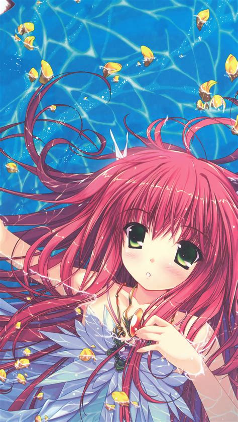 papersco iphone wallpaper ao water anime swimming