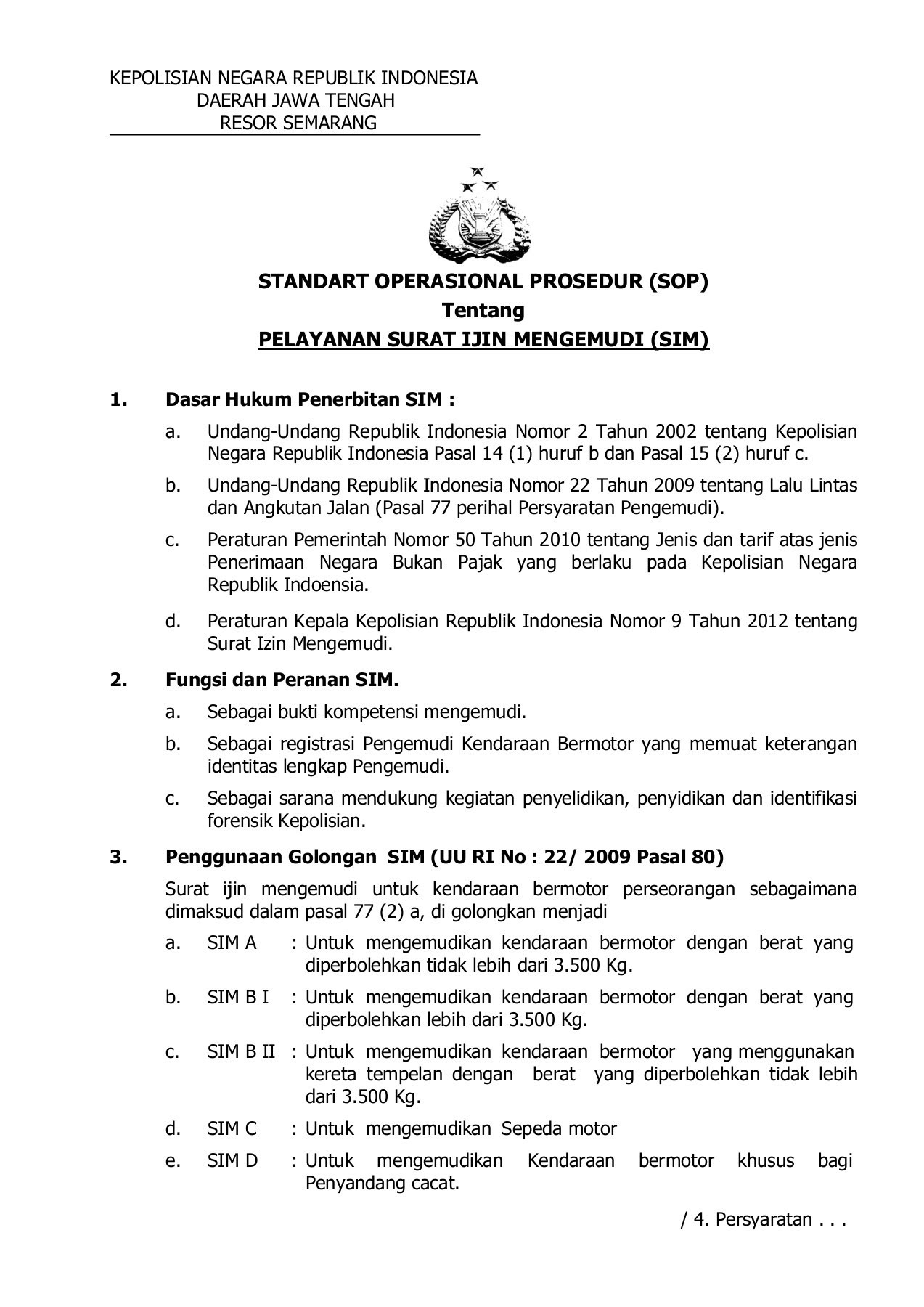 Jenis Surat Izin Mengemudi Di Indonesia