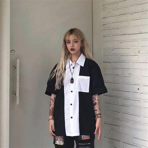 korean girl  tattoos bad girls aesthetic anime