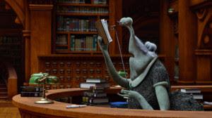 La bibliotecaria de Monstruos University