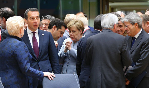 Angela Merkel had a meeting with Tsipras