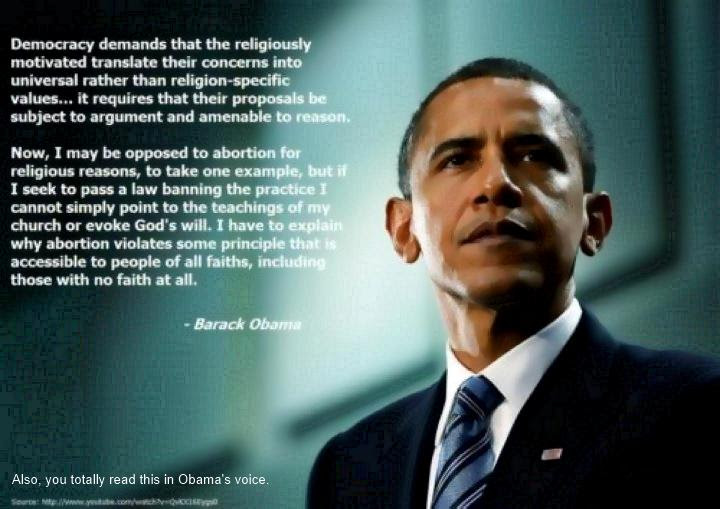 What Democracy Demands Of Religious Values Obama Quote Wanderings