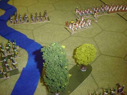 French Lights advance through woods