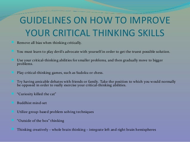 how to write a college critical thinking essay