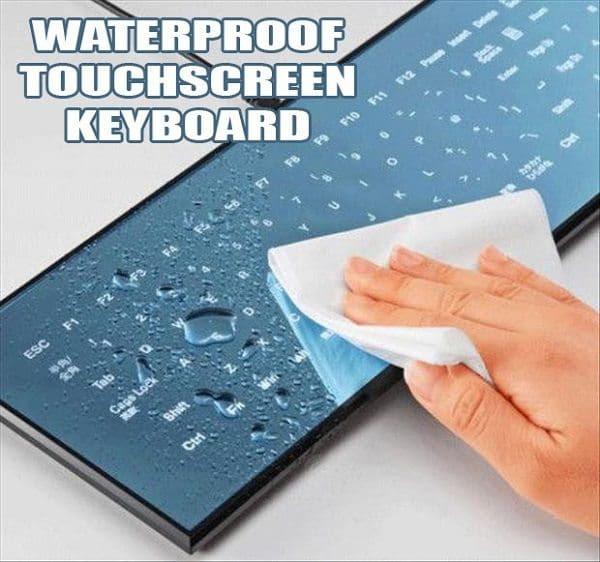 flat mirror touch panel keyboard