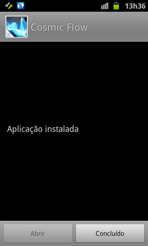 Aplicativo instalado no Android (Foto: Reprodução/Thiago Bittencourt) (Foto: Aplicativo instalado no Android (Foto: Reprodução/Thiago Bittencourt))
