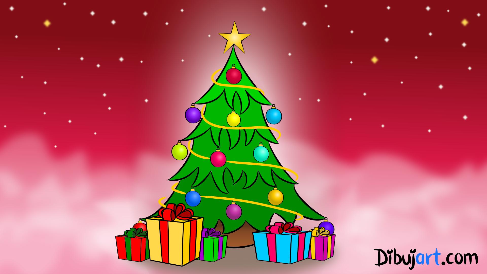 Cómo Dibujar Un árbol De Navidad Paso A Paso Dibujartcom