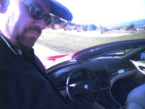 Starting my test drive 6pm to 11pm in a brand new bmw 330ci  convertable