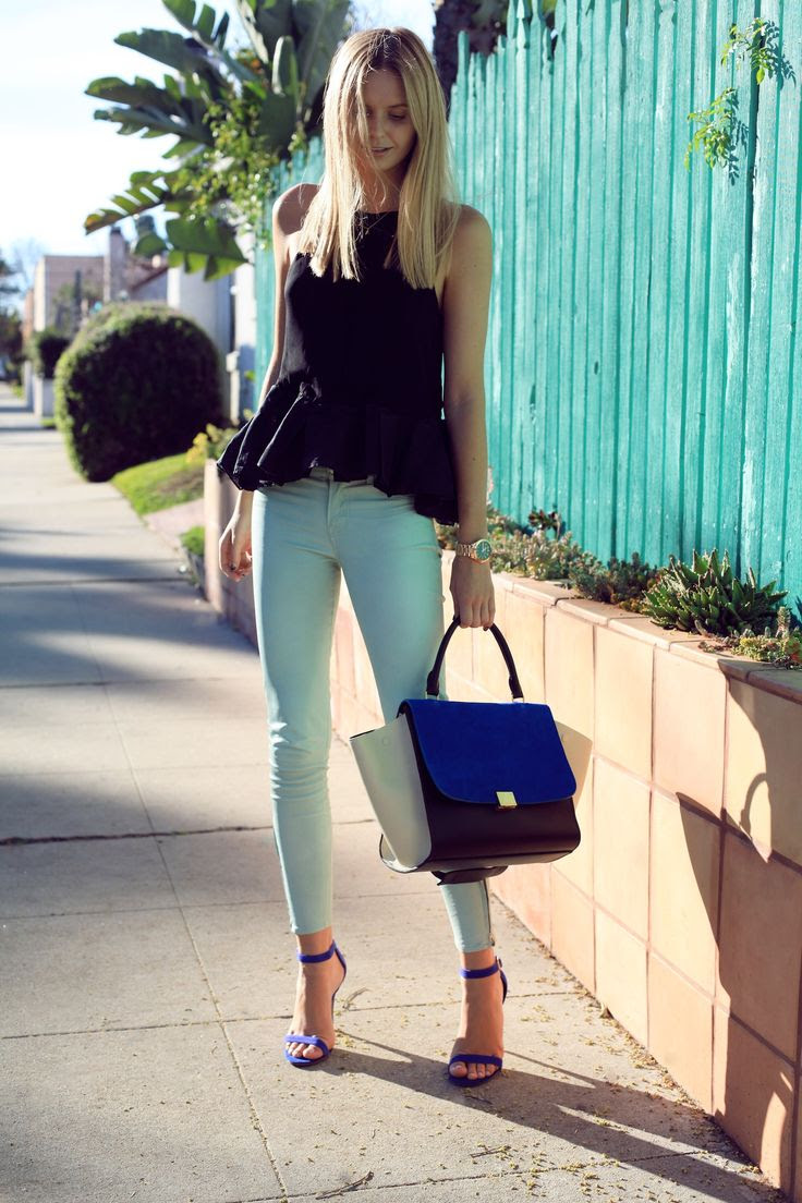 Wearing: J Brand pants, camilla and marc top, Celine bag, Steve Madden sandals, Michael Kors watch, Gorjana necklace