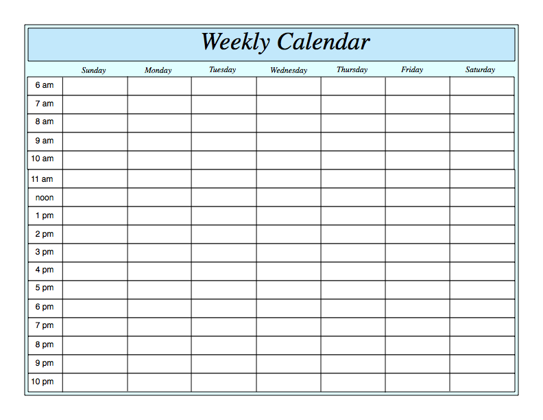 1000+ ideas about Weekly Calendar Template on Pinterest | Weekly ...