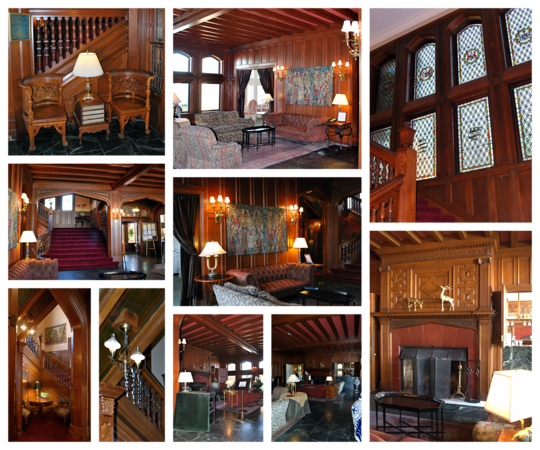 Collage of the Lobby Area of the Mansion at the Cranwell Resort, Spa, and Golf Club