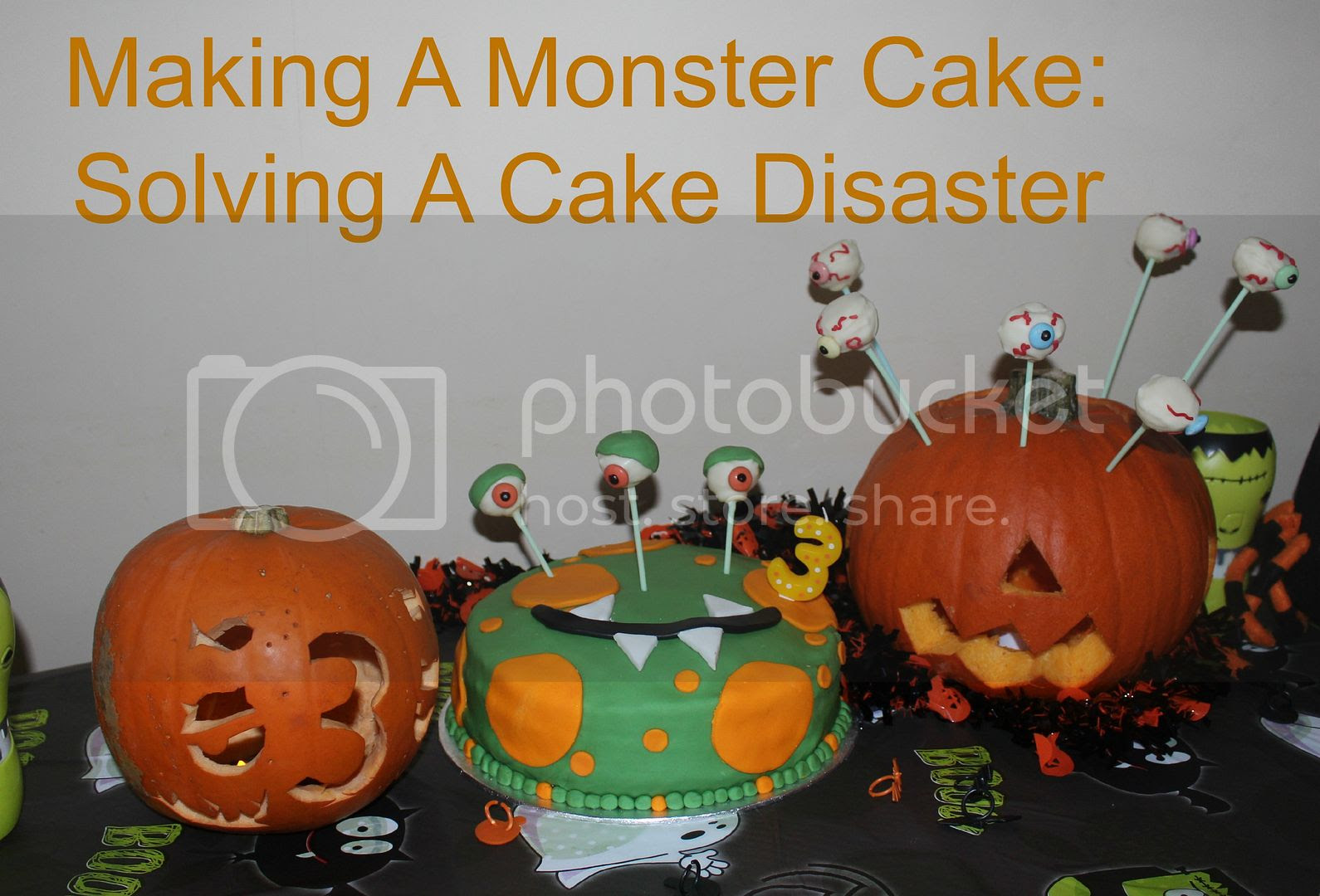 making a monster cake