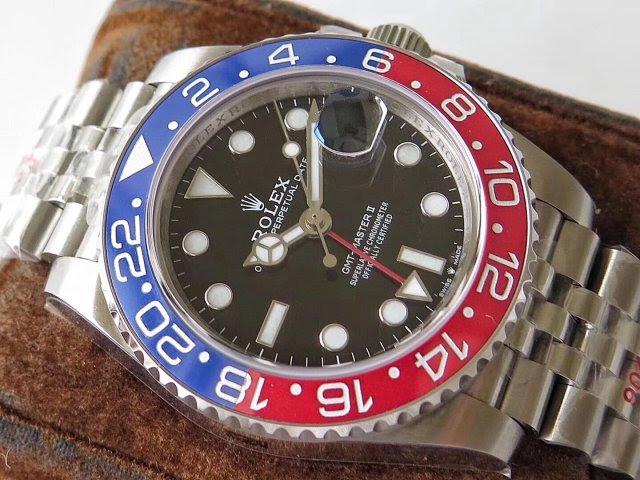 Replica Rolex GMT-Master II Blue Red