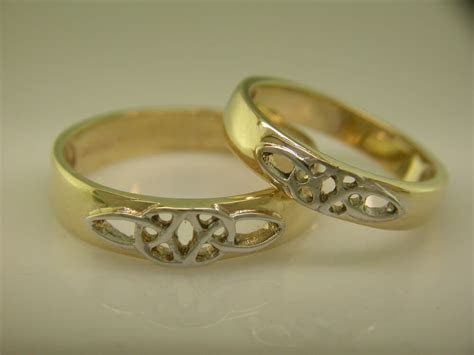 14k Gold & White Gold Irish handcrafted Celtic Wedding