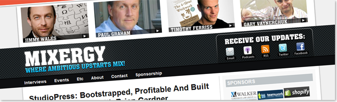 Mixergy1 أمثلة عن مدونات تكسب آلاف الدولارات سنوياً من الانترنت