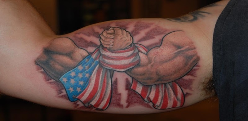 American Flag Tattoos With Patriotic And Symbolic Meanings And