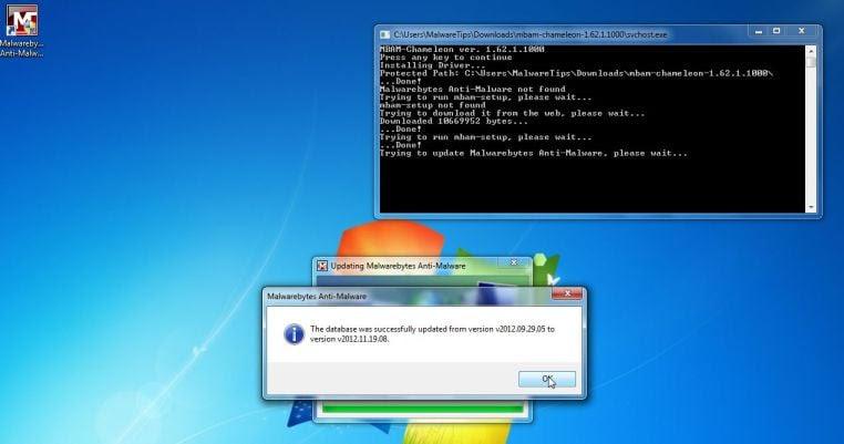 Malwarebytes Chameleon updating its database