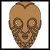 Máscaras africanas: Máscaras para para niños