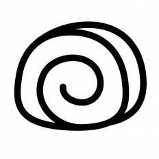 ロールパンシルエット イラストの無料ダウンロードサイトシルエットac