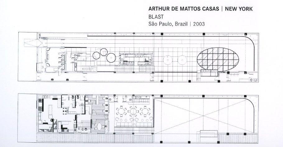 Mặt bằng bố trí nội thất câu lạc bộ ARthur de mattos casas- New york