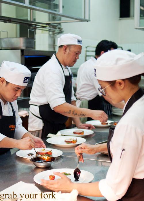 CCA Manila chefs in the kitchen at the Filipino Barbie