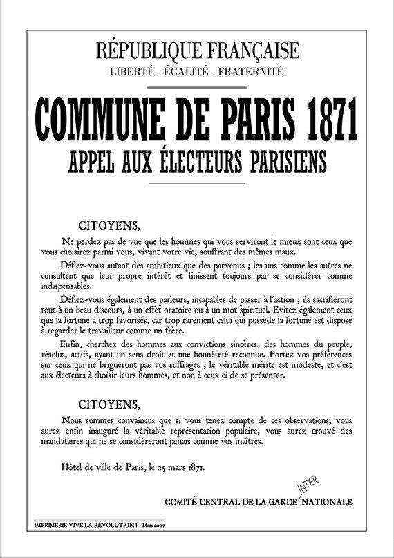 """Résultat de recherche d'images pour """"commune de paris declaration"""""""
